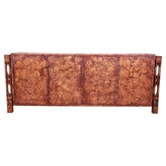 James Mont Style Mid-Century Faux Copper Sideboard Credenza or Bar Cabinet