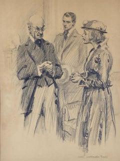 Couple Pleading with Man