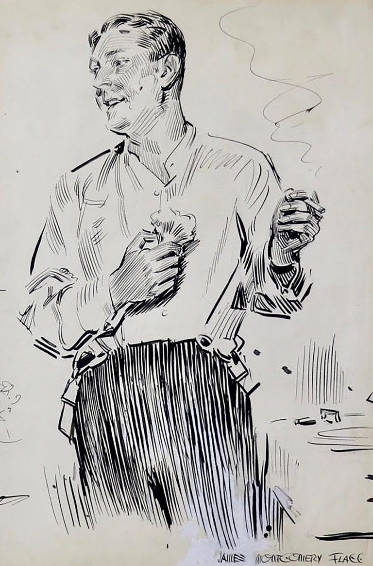 Gentleman in Partial Evening Dress - Mixed Media Art by James Montgomery Flagg