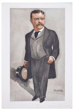 "Theodore Roosevelt - Chromolithograph for ""Vanity Fair"" After J.M. Flagg - 1902"