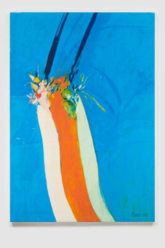 Untitled I (Blue Orange), acrylic on canvas, 72 x 50 inches. Abstract painting