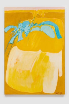 Untitled I (Yellow), acrylic on canvas, 72 x 50 inches. Blanched yellow