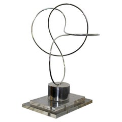 James Nani Untitled Modern Metal Wire and Lucite Sculpture