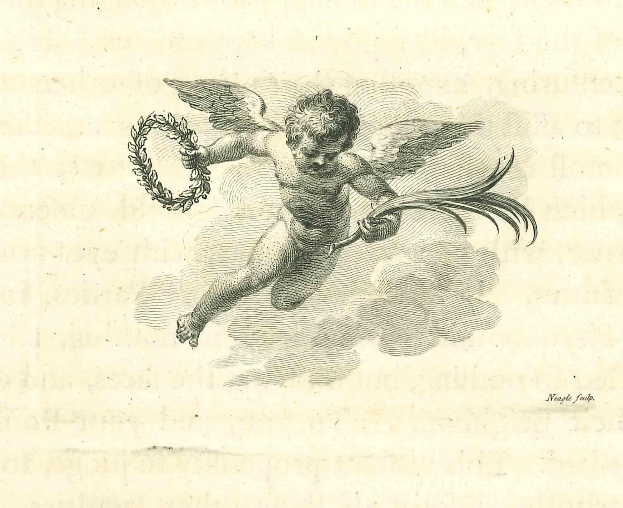 Angel - Original Etching by James Neagle - 1810