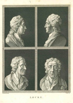 Heads of John Locke - Original Etching by James Neagle - 1810