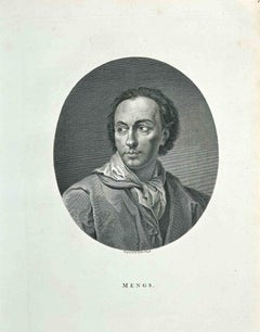 Portrait of A.R. Mengs - Original Etching by James Neagle - 1810