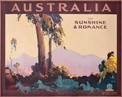 """Australia for Sunshine and Romance"" Vintage Original Travel Poster 1936"