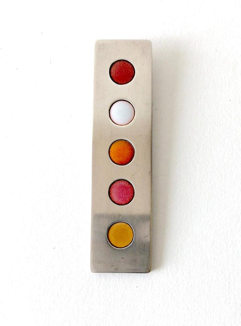 Women's James Parker Sterling Silver San Diego Modernist Enamel Dot Pendant For Sale