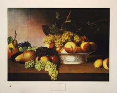 Still Life with Fruit-Poster. 1974 New York Graphic Society, Ltd. Printed in USA