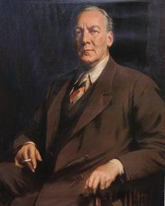Portrait John Gilbert - Australian 20's exhibited art male portrait oil painting