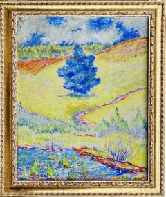 American Impressionist Painting - Pine tree in New York - Landscape Genre Monet