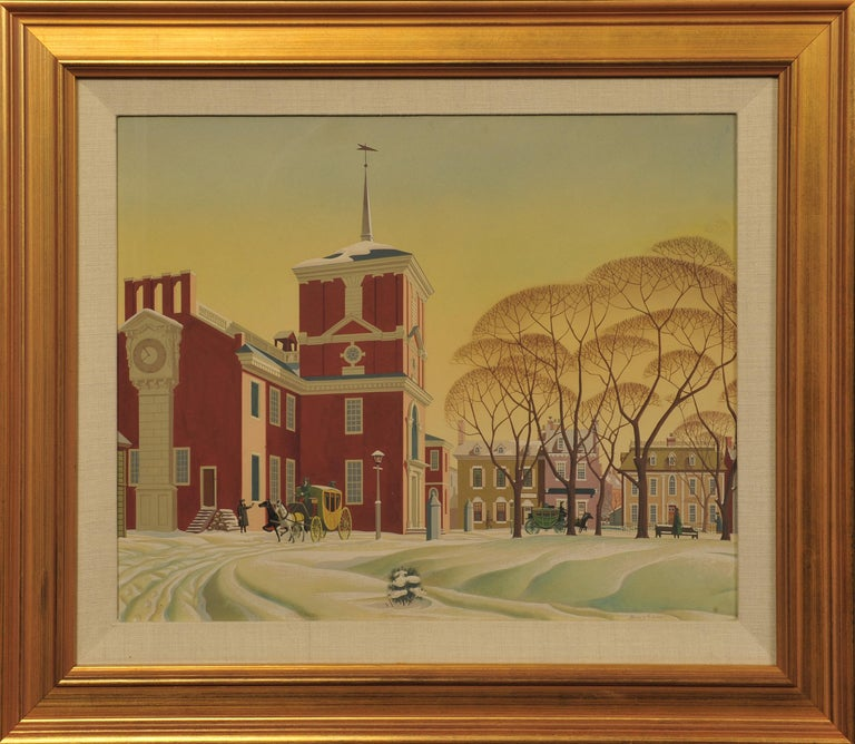 Snow at Independence Hall - Painting by James R. Bingham