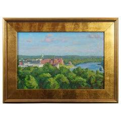 James River at Dusk by David Tanner Original Oil Painting Libbie Hill Park