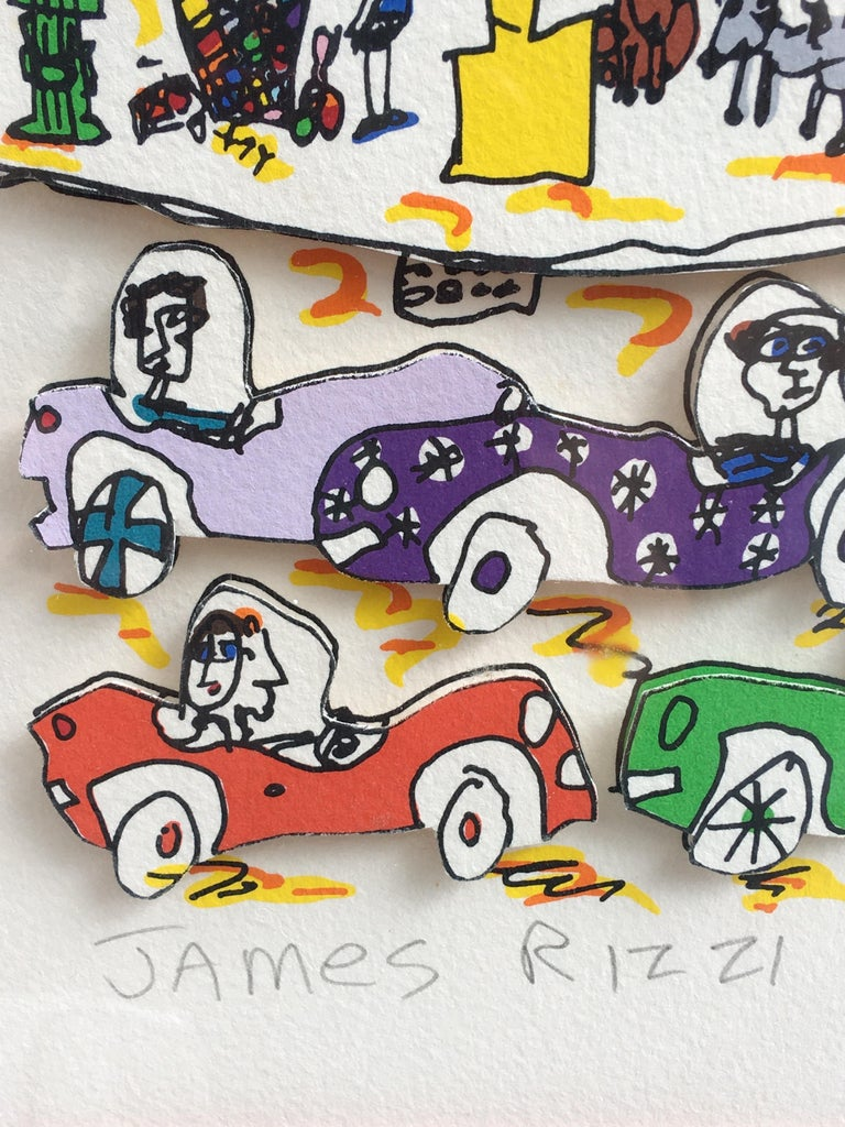 American James Rizzi Crosstown Traffic 1983 85/99 For Sale
