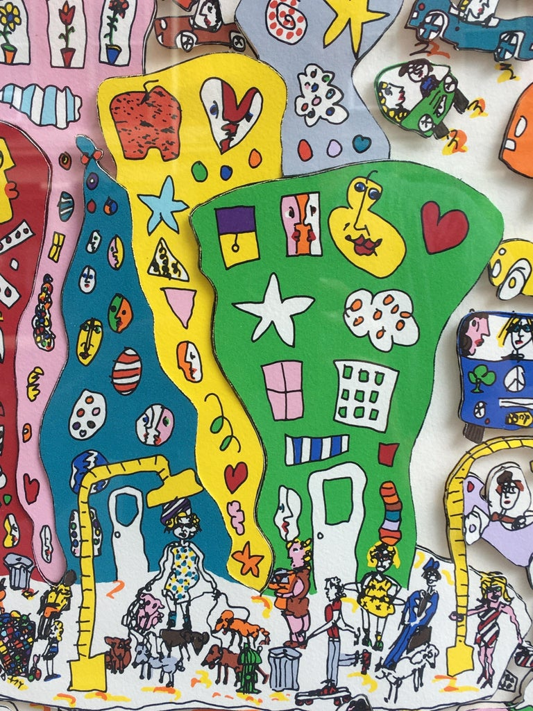 Late 20th Century James Rizzi Crosstown Traffic 1983 85/99 For Sale