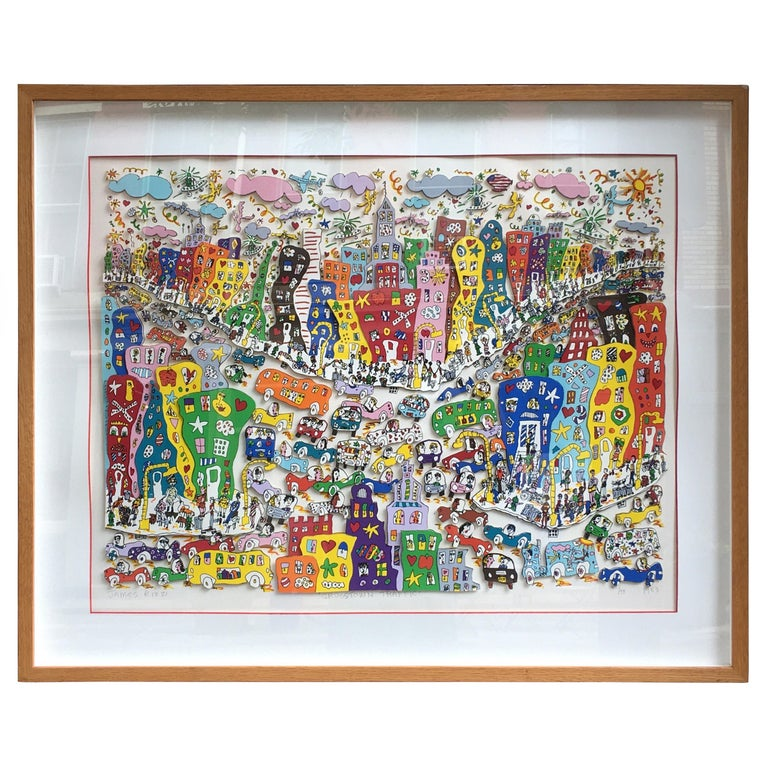 James Rizzi Crosstown Traffic 1983 85/99 For Sale