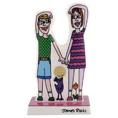 James Rizzi, for Goebel. Pop Art Porcelain Figure, 21st Century