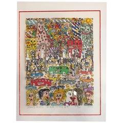 James Rizzi Main Street 1982 3-D Lithograph 58/99
