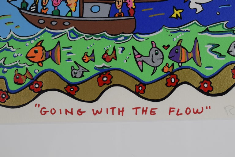 Going with the flow - Mixed Media, Pop Art, 3D, American Artist For Sale 6