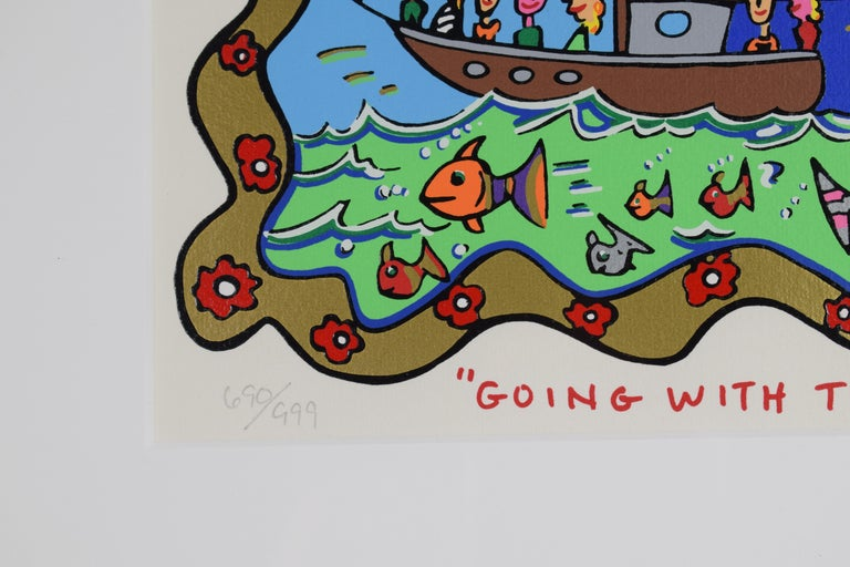 Going with the flow - Mixed Media, Pop Art, 3D, American Artist For Sale 7