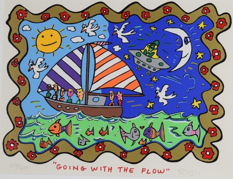 Going with the flow - Mixed Media, Pop Art, 3D, American Artist - Mixed Media Art by James Rizzi