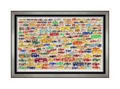 James Rizzi Original Traffic 3D Construction Relief Signed Mixed Media Cars Art