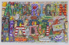 Made in the U.S.A. by Brooklyn born James Rizzi - Pop Art, 3D, America