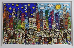 Make friends with life and people - Pop Art, Screenprint 3D, American Artist
