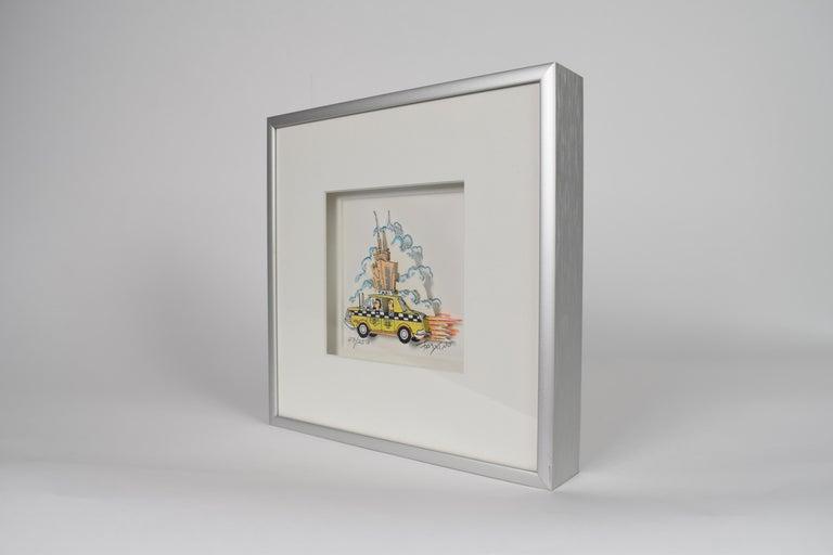 Taxi - Mixed Media, Pop Art, New York, 3D,  For Sale 9