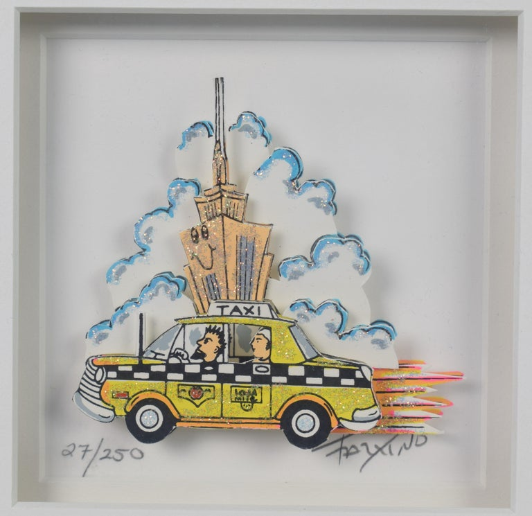Taxi - Mixed Media, Pop Art, New York, 3D,  For Sale 2