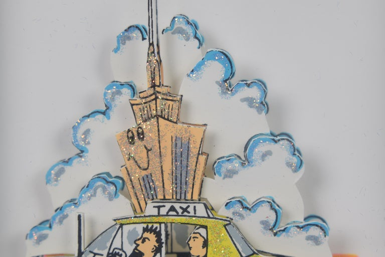 Taxi - Mixed Media, Pop Art, New York, 3D,  For Sale 3