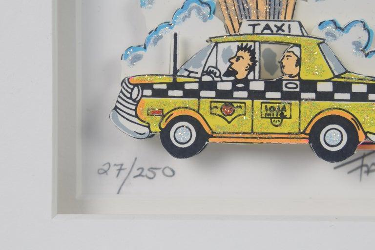 Taxi - Mixed Media, Pop Art, New York, 3D,  For Sale 4