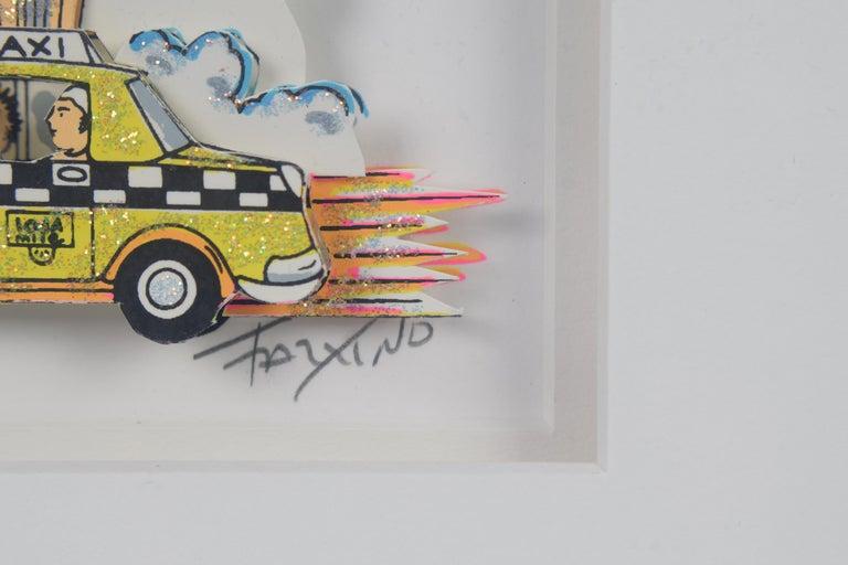 Taxi - Mixed Media, Pop Art, New York, 3D,  For Sale 5