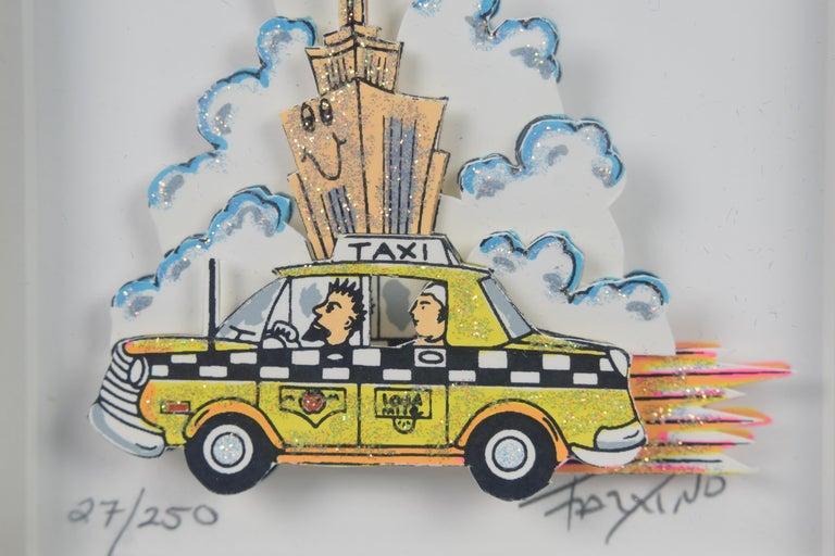 Taxi - Mixed Media, Pop Art, New York, 3D,  For Sale 6