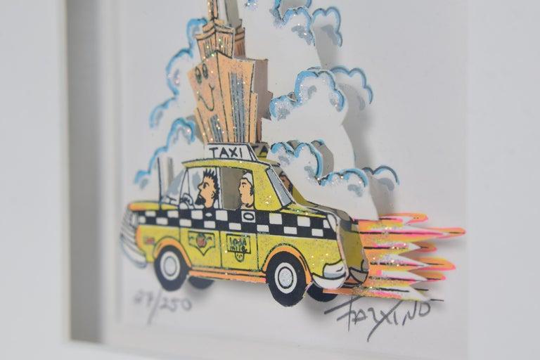 Taxi - Mixed Media, Pop Art, New York, 3D,  For Sale 7