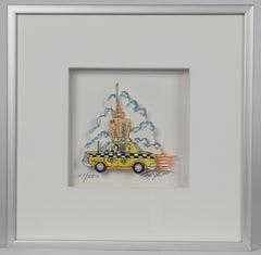Taxi - Mixed Media, Pop Art, New York, 3D,