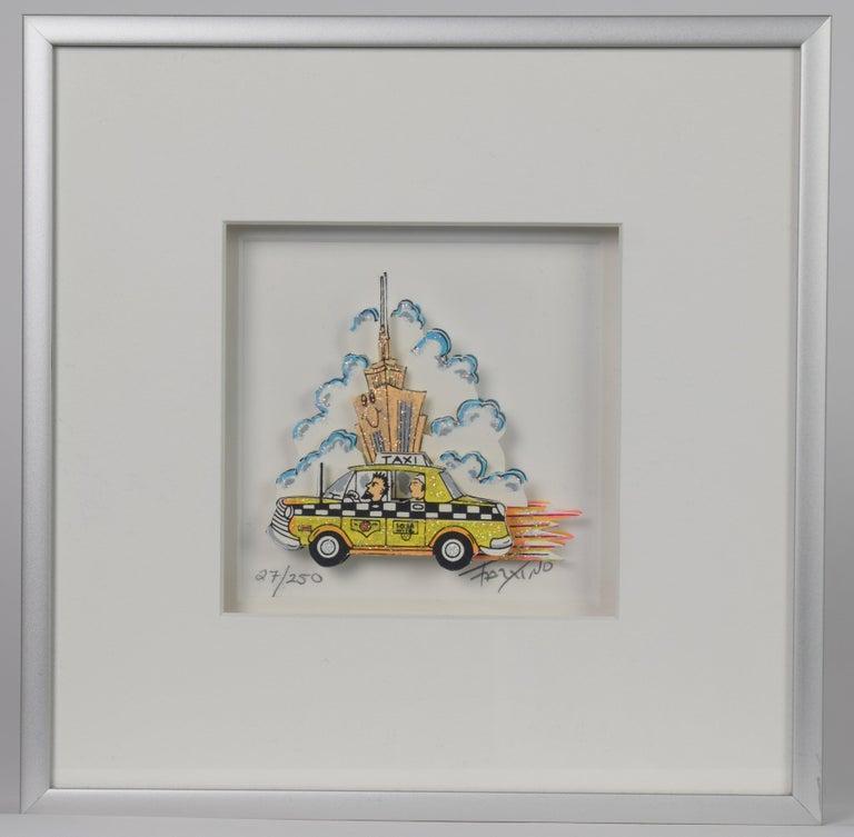 Taxi - Mixed Media, Pop Art, New York, 3D,  - Mixed Media Art by James Rizzi