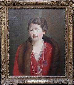 Elizabeth Exley - British Art Deco 30's inter war female portrait oil painting