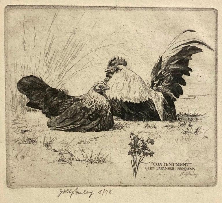 James Robert Granville Exley Figurative Print - Contentment