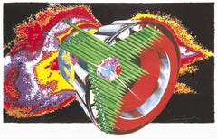 James Rosenquist, Space Dust, Collage, Acrylic and Lithograph, 1989