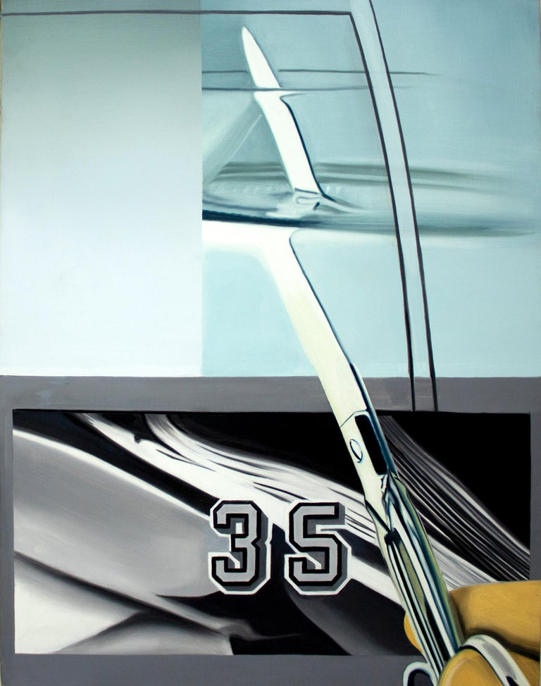 Vanity Unfair for Gordon Matta Clark - Pop Art Painting by James Rosenquist
