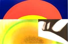 Brighter than the Sun, James Rosenquist: colorful abstract pop art rainbow