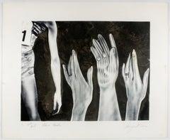Flower Garden (color trial proof) James Rosenquist Pop Art in black and white