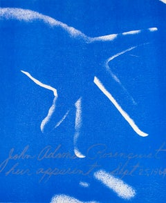 Heir Apparent, James Rosenquist lithograph in electric blue