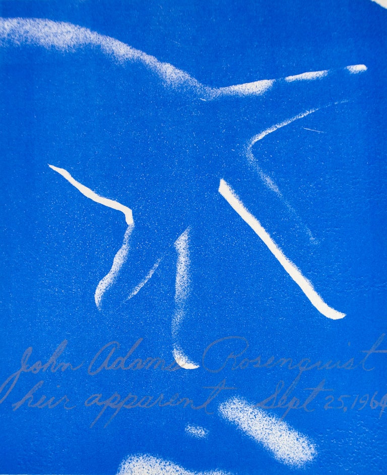 Heir Apparent, James Rosenquist lithograph in electric blue  - Print by James Rosenquist