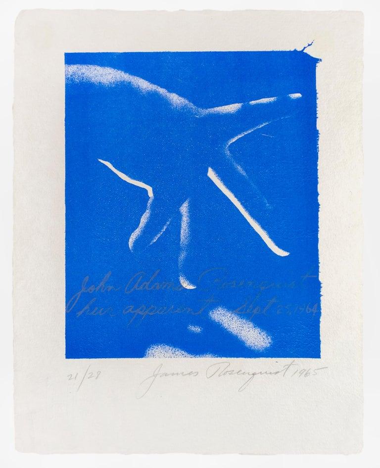 Heir Apparent, James Rosenquist lithograph in electric blue  - Pop Art Print by James Rosenquist