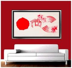 James ROSENQUIST Aquatint Original HAND SIGNED Large Abstract Artwork Hot Lake