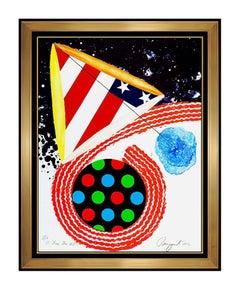 James ROSENQUIST Color Lithograph Signed Authentic Patriotic American Artwork