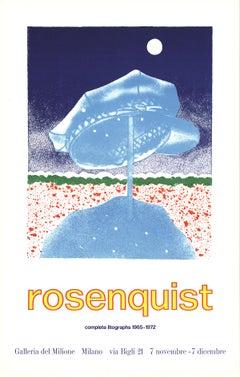 "James Rosenquist-Delivery Hat-32.5"" x 20.75""-Lithograph-1972-Pop Art-Blue"