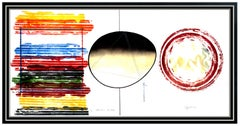 James Rosenquist Large Original Color Lithograph Signed Strawberry Sunglasses